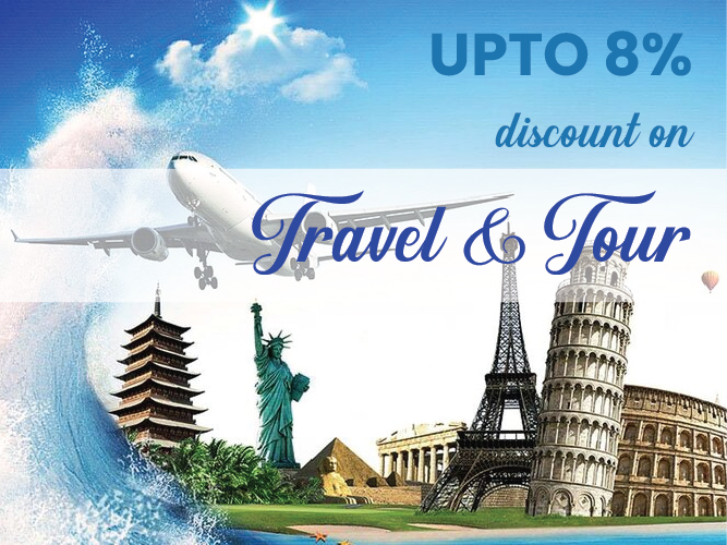 Up to 8% discount on travel & tour in any country